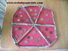 How To Make A Money Pizza - Graduation Gift Idea - rockabyeparents.com