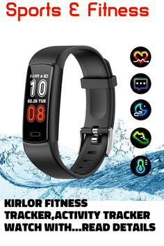 (This is an affiliate pin) Kirlor Fitness Tracker,Activity Tracker Watch with Heart Rate Blood Pressure Monitor,Waterproof IP68 Colorful Screen Pedometer Calorie Step Counter Sleep Monitor for Android and iPhone Activity Tracker Watch, Best Fitness Tracker, Heart Rate, Blood Pressure, Smart Watch, Monitor, Activities, Watches, Iphone