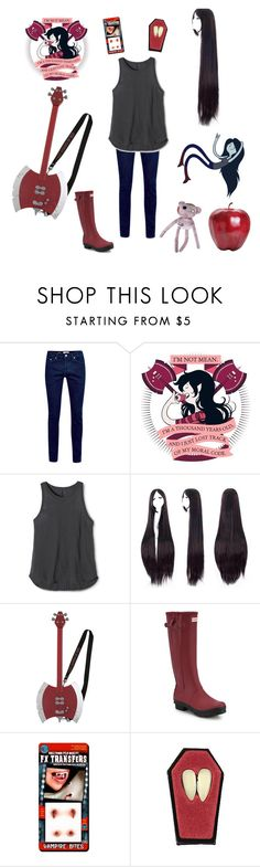 """""""Marceline costume (adventure time)"""" by skeloneko ❤ liked on Polyvore featuring Aventura, Topman, Mossimo Supply Co. and Hunter"""