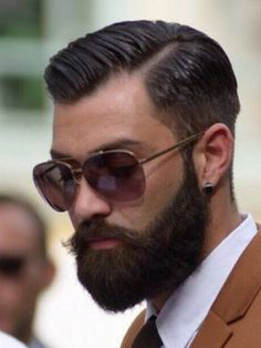 beard with mustache style + hairstyle