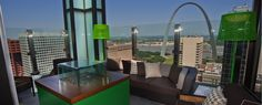 St. Louis, MO - Three Sixty Rooftop Bar offers a 360-degree view of downtown, the river, and Busch Stadium. Sunsets are astounding. Small plates (e.g., roasted mussels, wild-mushroom pizza) and cleverly infused libations make the scenery even more memorable.