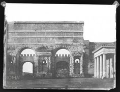 Piazza di Porta Maggiore (1850) Bed And Breakfast, Old Photos, Rome, Louvre, Italy, Antiques, Building, Travel, Buildings