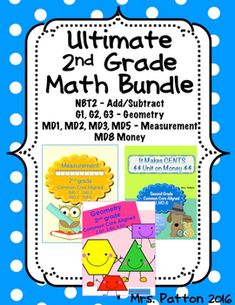 2nd Grade Common Core Ultimate Math Review Bundle: Over 100 Pages. Standards include: Addition and Subtraction; Geometry; Measurement; Money and more.  This is perfect for end of the year review before state test!  Assessments, Practice Pages, Lesson Plans and so much more!