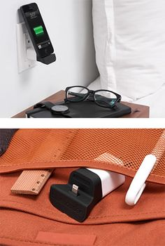 Charging and utilizing your device upright in a hotel room or bedroom and effortless to pack for travel $40
