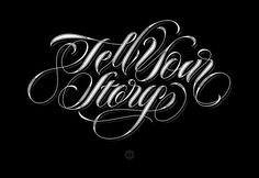 Tell Your Story by Andreas Ejerfors, via Behance