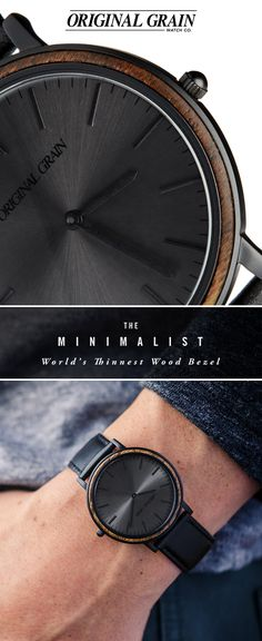 Handcrafted with meticulous attention to detail, The Minimalist features an ultra-sleek 40mm case and the world's thinnest wood bezel. A timeless silhouette that's simple yet extravagant. Starting at $149 with Free Shipping Worldwide