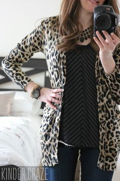 Dear Stitch Fix! I am some one who has always wanted to wear animal print and I've just never the right piece. I like this or something muted like this. I think it would look awesome with a black tank and the black denim I got in a previous fix. I love the idea of the long animal print cardigan.
