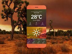 Weather #App Desert - Via http://www.themangomedia.com/blog/gorgeous-user-interface-design-inspiration/ @teammangomedia