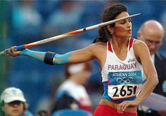 Leryn franco javelin thrower from Paraguay. Beijing, Leryn Franco, Javelin Throw, 2004 Olympics, Kinesiology Taping, Training Center, Running Workouts, Track And Field, Train Hard