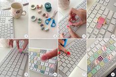 idées de déco super en ruban adhésif décoratif. modifie les objets