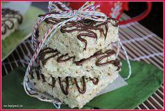 Pistachio Rice Krispie Treats with Dark Chocolate