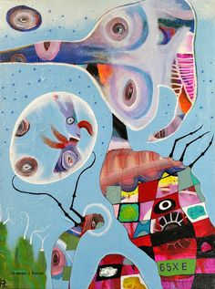 Outsider Art Painting: Presentation of the Baby by bugatha1