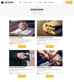 Buy Vatican - Church WordPress Theme by modeltheme on ThemeForest. Vatican is the latest WordPress Theme for Churches, Mosques or simply for Donations or Fundraising websites. Fundraising Websites, Charitable Donations, Vatican, Wordpress Theme, Things To Come, Pastor, Vatican City