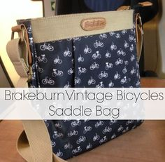 I am totally in love with this cute Brakeburn Vintage Bicycles Saddle Bag.