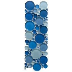 Bubbles Crystal Glass ESM05 Mixed Glossy Mosaic Border | EVERSTONE International