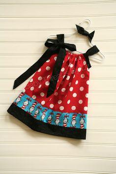 another super cute Dr Seuss pillowcase dress