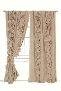 Ruffle Burlap Curtains, and several other nice burlap ideas on this page