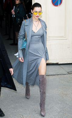The 3 Cool-Girl Trends Bella Hadid Just Wore in Paris via @WhoWhatWear