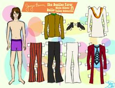 GEORGE HARRISON PAPER DOLL 3 by 89000007ANL.deviantart.com on @deviantART