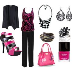 My first try at Polyvore.  I tend to be too matchy ;(