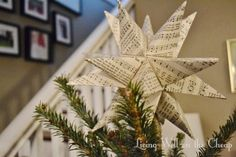 DIY Moravian Star Tree Topper | Living Well on the Cheap. Tutorial. Perfect for the tree.