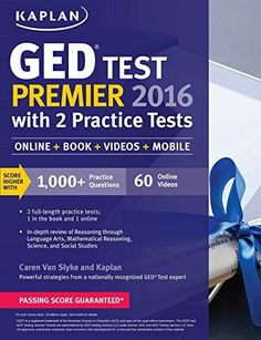 Kaplan GED Test Premier 2016 With 2 Practice Tests Online Book Videos