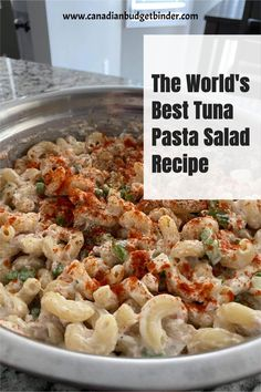 Cold Tuna Pasta Salad is a staple in our family. We have been coined to have the world's best tuna pasta salad and asked to bring it to every function we're invited to. This easy tuna pasta salad is creamy and filled with lots of veggies will fill tummies and make people happy.