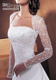 Image detail for -Home > Wedding Jackets >Lace Bolero Long Sleeve Wedding Dress ...