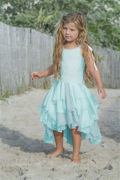 Pixie Girl Clothing - Pirouette Dress in Aqua Spring 2015 Preorder