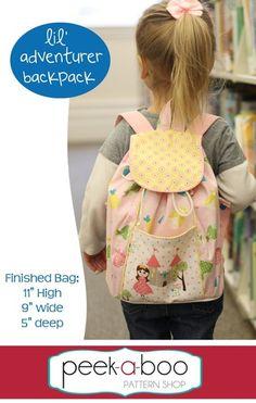 Lil' Adventurer Backpack PDF Sewing Pattern $7.95