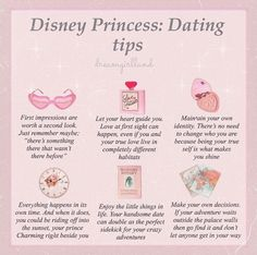 "🍂 on Instagram: ""ᴡᴇʟᴄᴏᴍᴇs ʏᴏᴜ ➵ ❧ Here's a few dating tips provided by our lovely Disney princesses 😊 I find these tips so uplifting and I replay each of…"" Classy Aesthetic, Angel Aesthetic, Aesthetic Vintage, Aesthetic Girl, Disney Tips, Disney Songs, Disney Quotes, Etiquette And Manners, Princess Aesthetic"