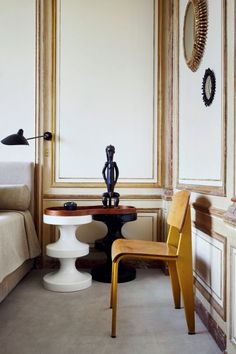Restrained, expensive, tasteful, erudite chic. Gotta be French. A bedroom-and-a-half.