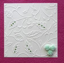 NEW Vine Leaves Square Embossing Folder For Cuttlebug & Sizzix