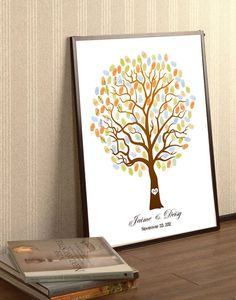 Items similar to Wedding Guest Book Tree-wedding tree-- To Be Personalized With Guest's Fingerprints - Unique Wedding Guest Book tree-With 2 ink pads on Etsy Wedding Tree Guest Book, Guest Book Tree, Tree Wedding, Fall Wedding, Our Wedding, Wedding Book, Wedding Stuff, Wood Guest Book, Fingerprint Tree