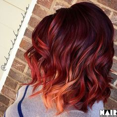 Burgundy Brown - 40 Red Hair Color Ideas – Bright and Light Red, Amber Waves, Ginger Hair Color - The Trending Hairstyle Ginger Hair Color, Hair Color Dark, Cool Hair Color, Short Red Hair, Gold Hair Colors, Bright Hair, Rose Gold Hair, Fall Hair, Summer Hair