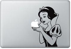 Snow White Decal Mac Decals Macbook Sticker by DecalsandSuch, $9.00