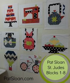 pat sloan st judes 1 to 8 http://blog.patsloan.com/2015/10/pat-sloan-st-judes-patterns-for-charity-quilt-free-block-8.html