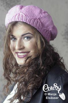 La Fleur pattern by Sylvie Rasch Knit Crochet, Crochet Hats, Trends, Winter Hats, Beanie, Lady, Pattern, Serin, Knitting Scarves