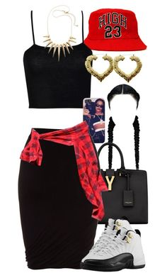 """Untitled #1220"" by power-beauty ❤ liked on Polyvore featuring Boohoo, Yves Saint Laurent and T By Alexander Wang"