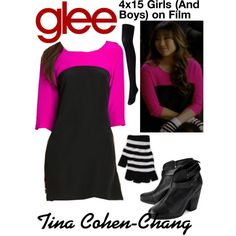Tina Cohen-Chang (Glee) : 4x15 by aure26 on Polyvore featuring polyvore, fashion, style, GANT, Uniqlo, rag