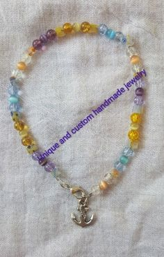White Seed Beads /& Turquoise Cats Eye Beaded Bracelet *See Matching Anklet*