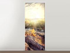 Tür #Tapete Sonnenaufgang am Fluss