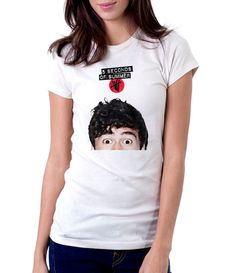 5SOS Calum Hood Head - Women - Shirt - Clothing - White, Black, Gray - @Dianov93