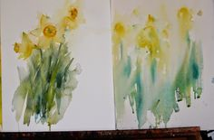 Watercolours With Life - tips on painting a series of flowers from Jean Haines