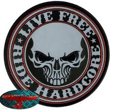 a ride hardcore biker patch reflektierend gro aufnaher aufbugler backpatch harley