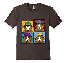 braincolor: Hat Dog T-Shirt  Comic Fun-Shirt