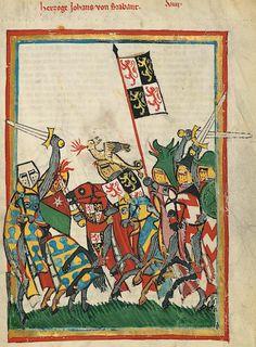 Manesse Codex - (1300 - 1340) Herzog Johann von Brabant