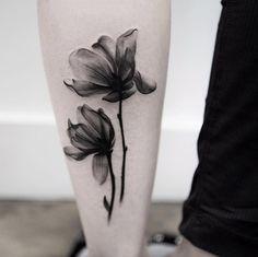 X-ray Flower Tattoo Design