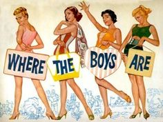 Where The Boys Are (1960) — Dolores Hart, Paula Prentiss, Connie Francis & Yvette Mimieux by Janny Dangerous
