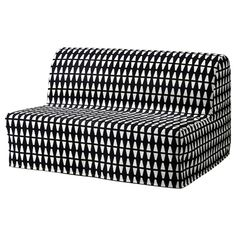 IKEA - LYCKSELE, Sofa-bed cover, Ebbarp black/white, The cover is easy to keep clean as it is removable and can be machine washed. Sofa is sold separately. Futon Mattress, Mattress Covers, Sofa Covers, Mattresses, Duvet Covers, Convertible 2 Places, Sofa Cama Ikea, Monochrome